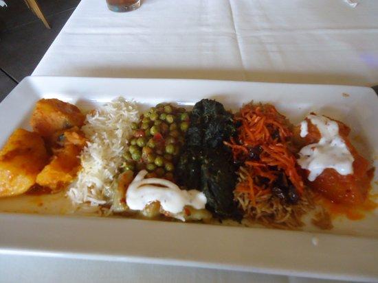 Khyber Pass Restaurant: vegetarian sampler
