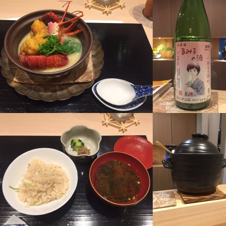 The food was delicious and the presentation was beautiful. I recommend the sake pairing!