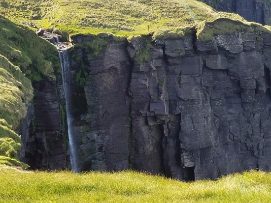 Doolin Cliff Walk: there's even a waterfall