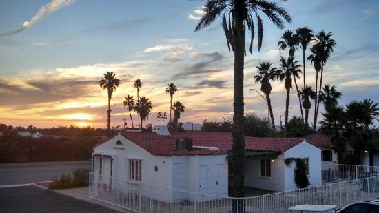 Coronado Motor Hotel Yuma: Sunset above our property museum