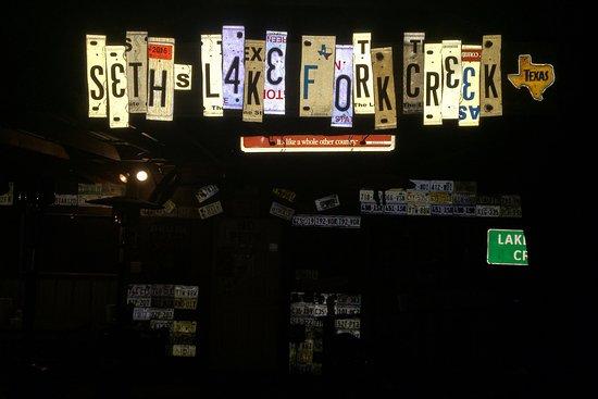 Quitman, TX: Seth's Lake Fork Creek Sign