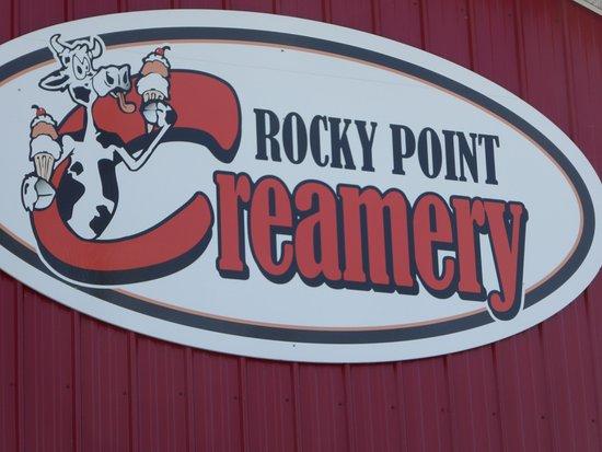 Rocky Point Creamery: Sign