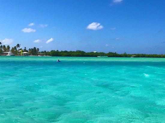 Blue water around Owen Island, Little Cayman BWI