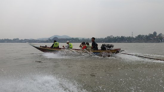 Thai Motorcycle Day Tours: Boat ride on the Mekong over to Loas