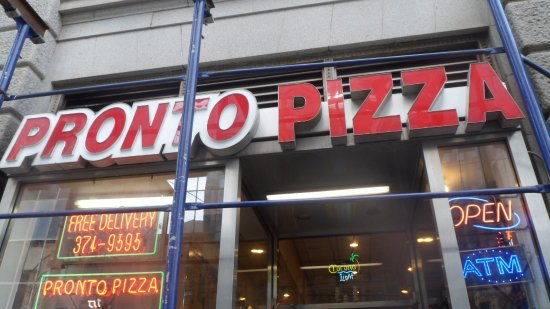 Front of Pronto Pizza
