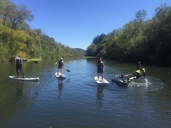 Windsor, CA: Getting our sea-legs - Russian River near Wohler Bridge.