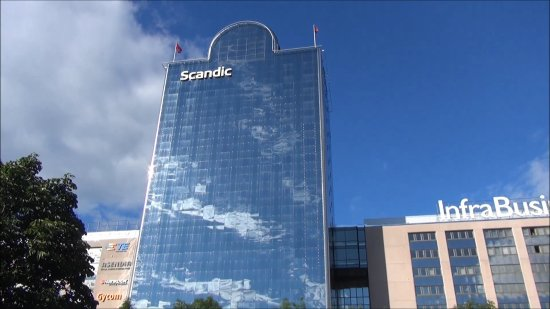 Scandic Infra City: 総ガラス張りではあったが?