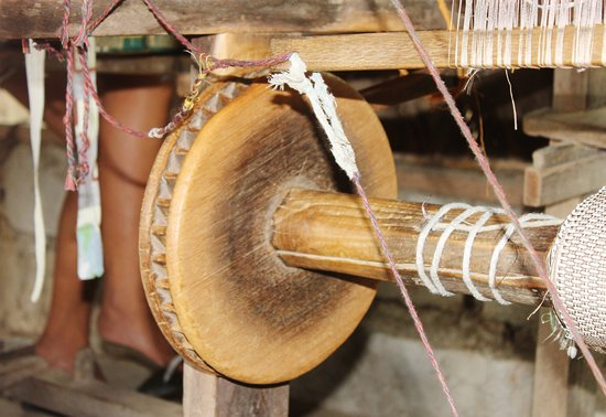 Paoay, Philippines: part of the weaver's machine