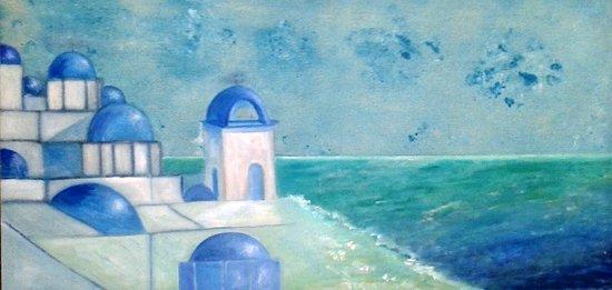 Ventallo, Spanien: Enric Puigsegur . Acrilic sobre tela - Santorini