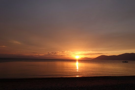 Rovies, Greece: sunset from the 50m nearby beach
