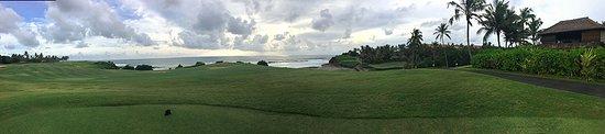 Klub Golf Nirwana Bali: Panorama on one the most scenic holes