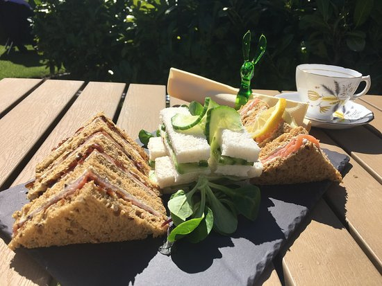 Church Stoke, UK: Afternoon tea sandwiches