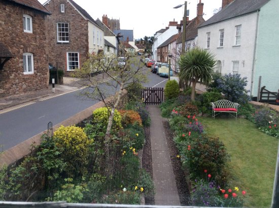 Millstream Cottage: View over front garden and down main street from our bedroom.