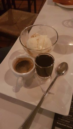 Kloof, Sydafrika: ice cream, frangelico and espresso