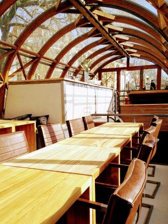 Photo of Mediterranean Restaurant Patio at Helgoländer Ufer / Kirchstrasse, Berlin 10557, Germany