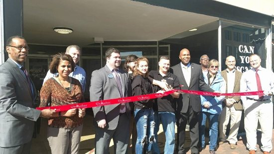 Escape Old Towne - Escape Rooms: Our Ribbon cutting with the Mayor and friends of Petersburg, Thanks Chamber of Commerce.