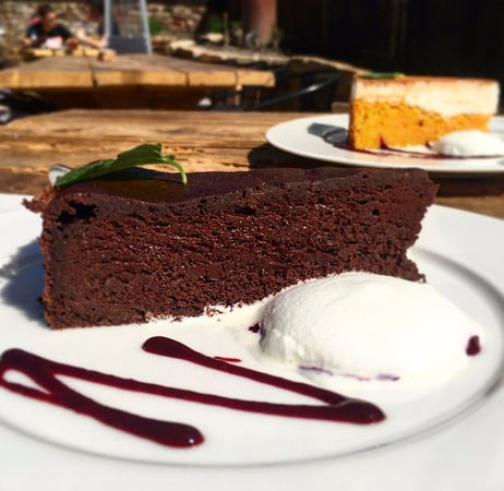 Hustopece, Czech Republic: chocolate cake