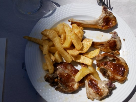 Zugarramurdi, Spania: Comida grasa.