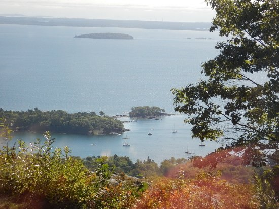 Camden, ME: You can see lovely little inlets and bays from atop Mt. Battie