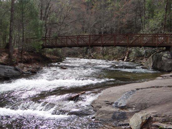 Fire Creek Falls: Walkway bridge over the beautiful creek