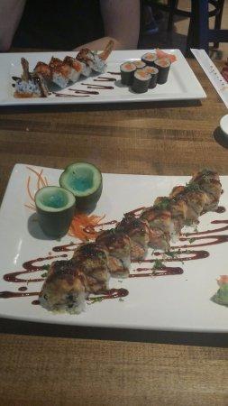 Denham Springs, LA: Geisha tempura roll, tuna, and Geisha Roll