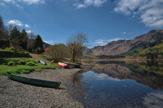 Trefriw, UK: View from the seating outside the Cafe