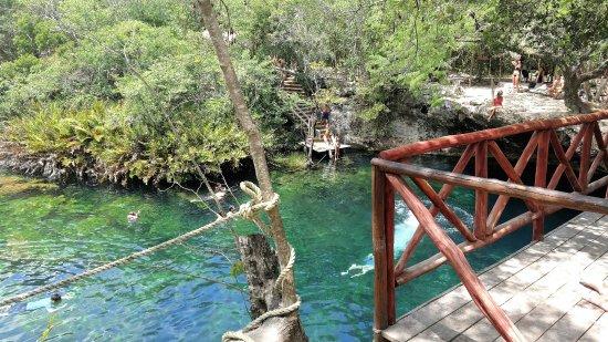 Yucatan, Mexico: The jumping platform