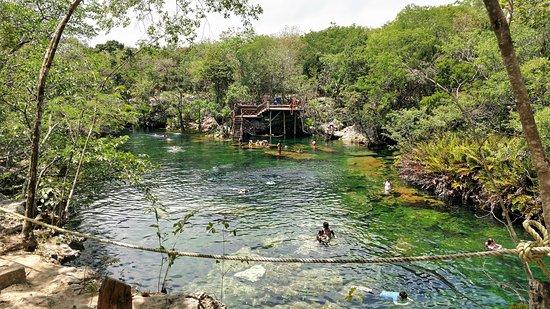 Yucatan, Mexico: The main cenote swimming area