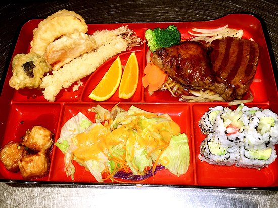 Topsham, ME: The Rib-eye bento box