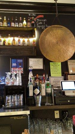 Lanesboro, MN: the back bar, love the gong