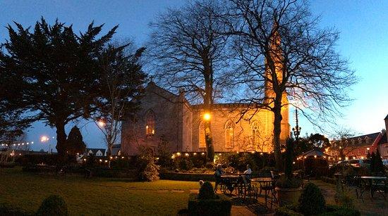 Ennis, Ireland: View from the hotel garden.