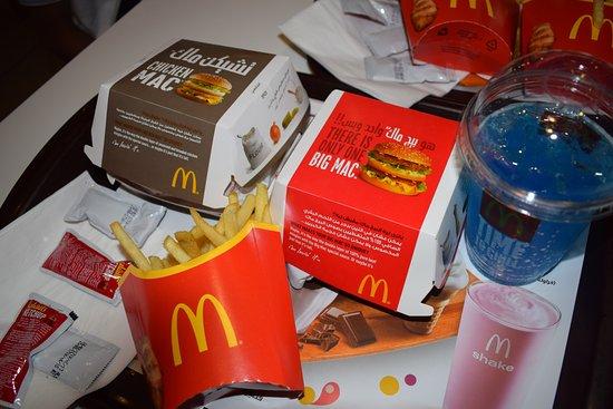 McDonald's Naama Bay: Chicken Mac and Big Mac with Blue Sprite
