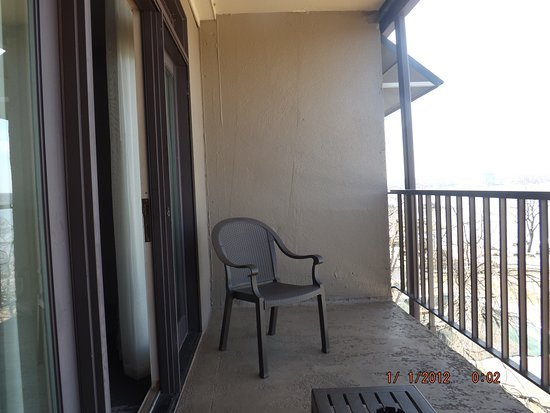 Lodge of  Four Seasons : This is the balcony it has two chairs and table