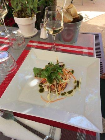 Saint-Pantaleon, France: Tartare de Thon au gingembre, légumes croquants