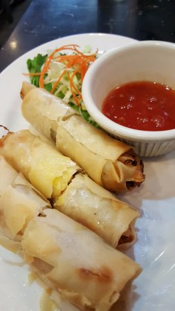 King Of Thai Noodle: Vegetable Egg Rolls with Plum Sauce