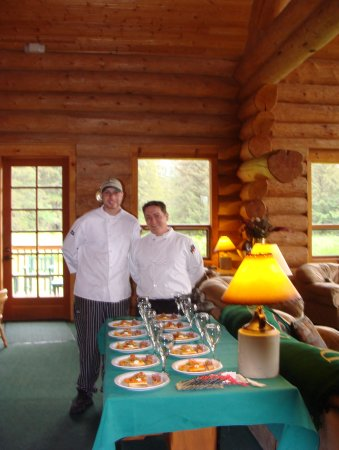 Gustavus, AK : Chefs Sloan and Michael prepared for a special event