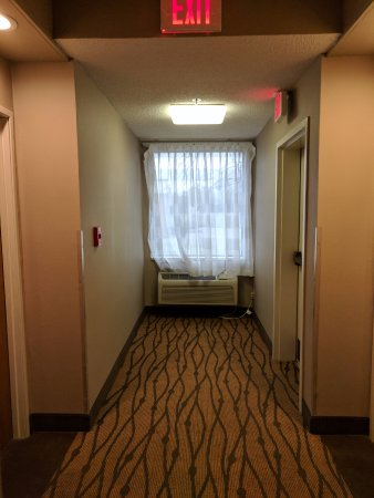Sleep Inn: Room 200 is on the left