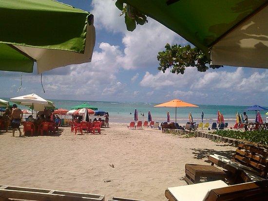 Riacho Beach: Bar a beira da praia do ponto de apoio da pousada recanto dos milagres.