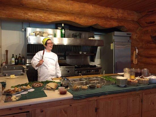 Gustavus, AK: Wolfie is ready to take your breakfast order