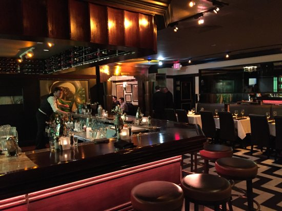 art deco decor bar picture of osso steakhouse san francisco tripadvisor. Black Bedroom Furniture Sets. Home Design Ideas