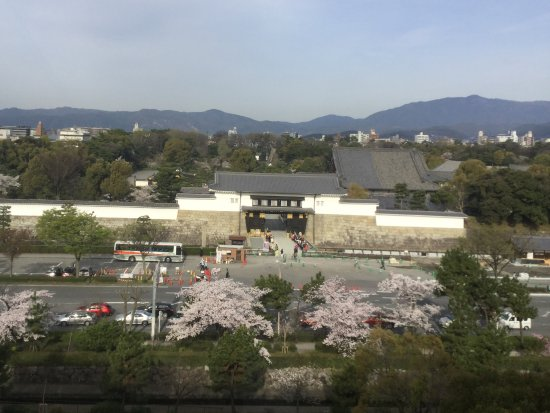 ANA Crowne Plaza Kyoto: View from our room ..Nijo Castle