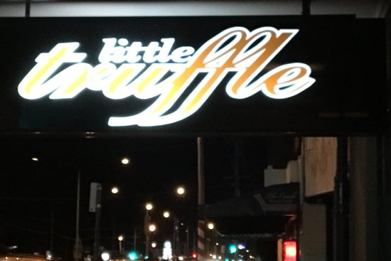 Little Truffle Dining Room Bar Sign Visible From The Gold Coast Highway