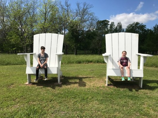 Washington, TX: This is a sitting area by one of the lakes.