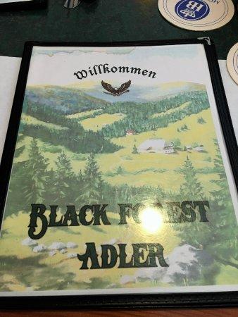 Black Forest Adler: Menu