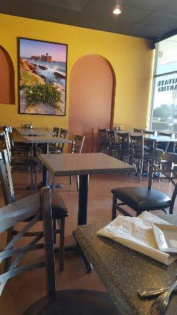 tables inside annas kitchen - Annas Kitchen