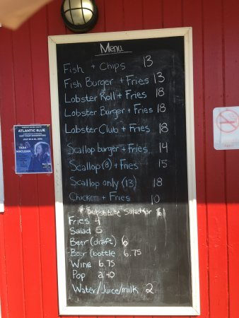 Stanhope, Kanada: menu