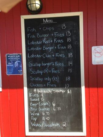 Stanhope, Καναδάς: menu