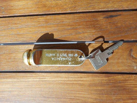 Esmeralda Resort: The room key.