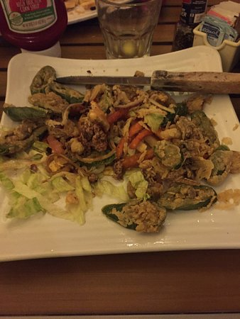Sunshine Grill: Deep fried salad that came with dinner