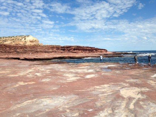Red Bluff: Red rocks!